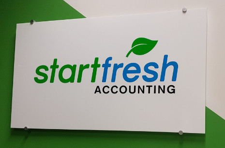 Accounting business sign