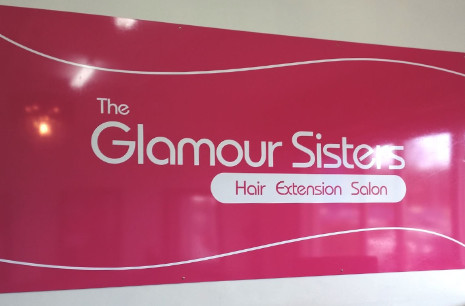 Salon shopfront sign